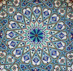 islamic tile art-Hassan II mosque,Casablanca