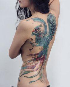 phoenix dragon tattoo for women * phoenix dragon tattoo . phoenix dragon tattoo for women . Tattoo Side, Side Tattoos, Hot Tattoos, Body Art Tattoos, Small Tattoos, Japanese Phoenix Tattoo, Phoenix Back Tattoo, Phoenix Bird Tattoos, Phoenix Tattoo Design