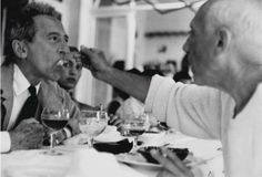 Jacques-Henri Lartigue - Jean Cocteau and Pablo Picasso, 1955.