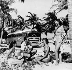 1947: Greyhound bus, Florida