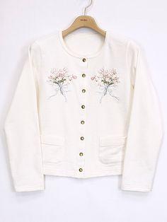 SALE チューリップブーケ刺繍スナップカーディガン | PINKHOUSE,セール | ピンクハウスウェブショップ Sweatshirts, Blouse, Long Sleeve, Sleeves, Sweaters, Tops, Women, Fashion, Moda