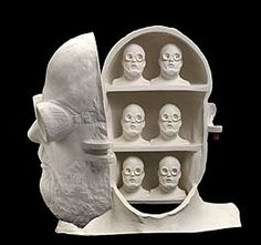 Thinking about Self-Portraits -- 1978, Charles Fager, slip-cast and hand-built porcelain