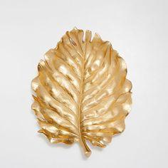DEKO-TABLETT MIT GOLDENEM BLATT - Dekoration Accessoires - Dekoration | Zara…