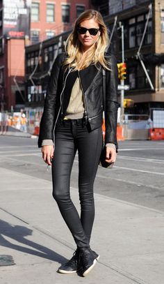Street Chic @ Elle.com    love when girls pull of sneaks with style