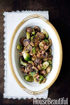 Laura Pensiero's Roasted Maple Brussels Sprouts with Pancetta and Chestnuts