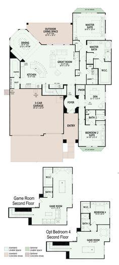 Ashland - Floor Plan - Robson Ranch Texas - Robson Resort Community