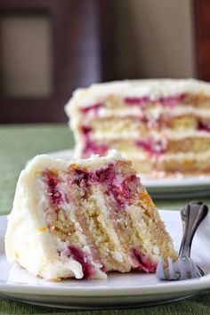 Meyer Lemon Iced Raspberry Yogurt Cake ~ I really loved the combo of the not too sweet cake with the lemon-y frosting!..
