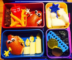 3rd Day of Hanukkah Bento and Snacks - Give a Dreidel a Hug Day