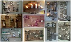 Barkácsoljunk: polcok deszkából - Színes Ötletek Recycled Wood, Farmhouse Decor, Living Room Decor, Recycling, Shabby Chic, Diy, Home Decor, Decorations, Image