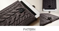 Kare Knits' Signature Cable Knit iPad Case PATTERN by kareknits