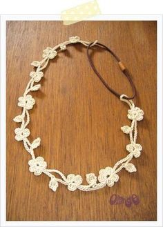 crochet jewelry. If the pattern wasn't in Chinese, I would make this...