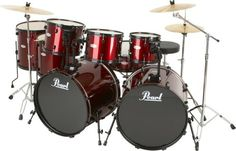 Pearl double bass set
