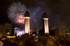New Year's Eve In Montjuic, Barcelona
