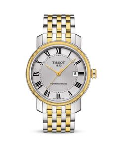 Tissot Bridgeport Silver Automatic Two-Tone Watch, 40mm