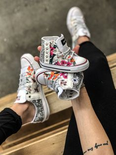 Mom & Baby Collection custom by Muffin Vans Authentic, Mom And Baby, Muffin, Converse, Sneakers, Collection, Shoes, Fashion, Tennis