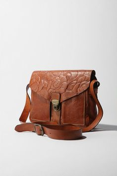 Patricia Nash Tooled Buckle Crossbody Bag