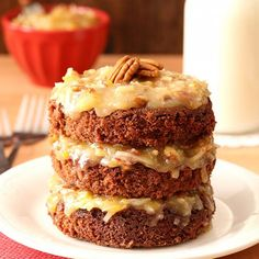 Show someone how much you care by baking up this Mini German Chocolate Cake For Two. Or you can pretend it's a single serving cake.