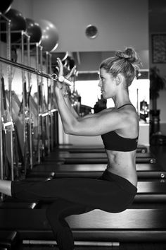 This is one of my favorite exercises on my favorite piece of Pilates equipment.