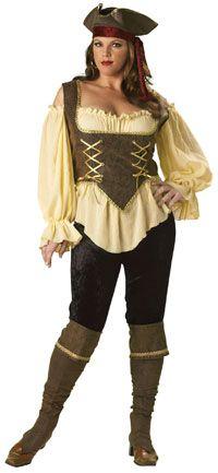 Rustic Pirate Lady Plus Size Costume - Pirate Costumes