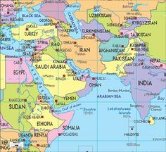 Detailed Clear Large Political Map Of Middle East