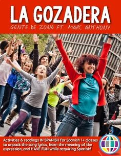 La Gozadera by Gente de Zona ft Marc Anthony, Activities to use the song in