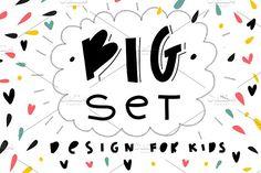Big set for kids design! by mikka_kika on @creativemarket
