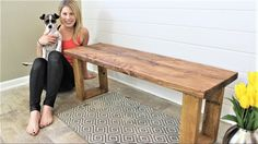 """$15 and 15 minutes can make you this bench! TOOL LIST: -Miter Saw: ... -Drill and Impact Driver: ... MATERIALS LIST: -2""""x4"""" (Home Depot): ... ... . Diy,"""