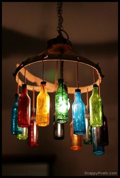 Decorate with Upcycled Wine Bottles Visit & Like our Facebook page! https://www.facebook.com/pages/Rustic-Farmhouse-Decor/636679889706127