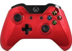 Custom Chrome Xbox One Controller with Red Chrome Shell Brand New | eBay #customcontroller #moddedcontroller #xboxonecontroller #chromecontroller
