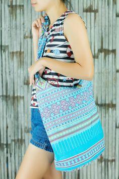 Sling Bag Boho Hippie bag purse Festival hobo bag tote bag unisex bag ethnic gypsy bohemian woven tapestry Abstract tribal native design