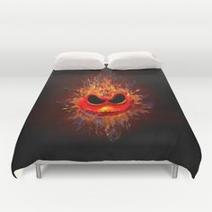 Skull Fire emoticon face  DUVET COVER @pointsalestore @Society6 #duvetcover #sugarskull #flower #mandala #drawing #thedayofthedead #mexicosugarskull #mexico #skull #dayofdead #mexicanart #muertes #diadelosmuertos #indian #native #nativeamerican #owl #pattern #owls #chief #indianchief