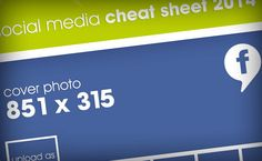 Here's your social media cheat sheet for 2014! #SocialMedia #ImageSizes #CheatSheet