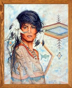 Native American maiden with a beautiful smile on her face . Native American Women, American Indian Art, Native American Indians, American Pride, Native Americans, Gifts For Art Lovers, Lovers Art, Poster Prints, Art Prints