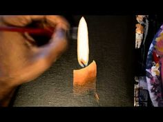 ▶ how to paint candle light - YouTube