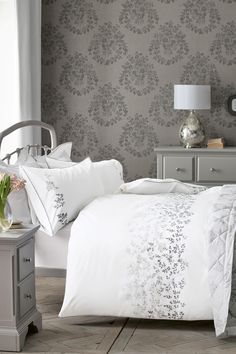 Buy Embroidered Ombre Leaf Bed Set from the Next UK online shop
