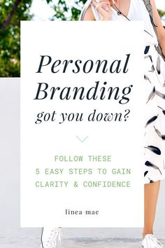 Branding doesn't just stop at branding your business. You need to pay attention to your personal brand too. What does personal branding even mean? I break it down for you and give you 5 steps to define your personal brand. Easily use your own brand to build your expertise and confidence.