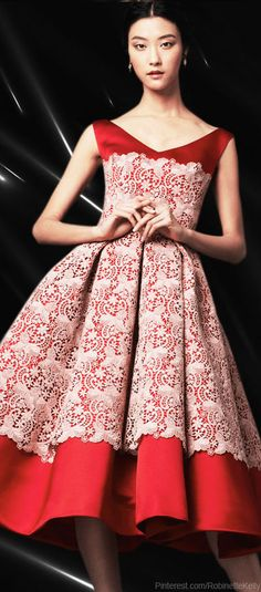 Dolce & Gabbana | Light Pink Lace Application Duchesse Midi Dress