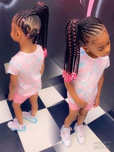 Black Kids Braids Hairstyles, Little Girls Natural Hairstyles, Braided Cornrow Hairstyles, Toddler Braided Hairstyles, Childrens Hairstyles, Cute Little Girl Hairstyles, Braids Hairstyles Pictures, Baby Girl Hairstyles, Little Black Girls Braids