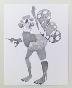 Nicola Tyson  Graphite Drawing #16
