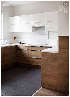 Schon Moderne Küchenschränke, Kleine Küchen, Moderne Küchen, Küche Holz, Ideen  Für Die Küche, Moderne Küchendesigns, Moderne Zeitgenössische, Holz, Küchen