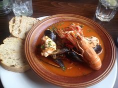 seafood stew @ the plough, winchmore hill
