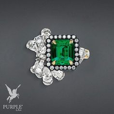 """Green is the new thing or in this case emeralds! """"Acanthe Émeraude"""" ring in white yellow and pink gold scorched silver diamonds and emerald by @dior will make your total look captivating! #purplebyanki #diamonds #luxury #loveit #jewelry #jewelrygram #jewelrydesigner #love #jewelrydesign #finejewelry #luxurylifestyle #instagood #follow #instadaily #lovely #me #beautiful #loveofmylife #dubai #dubaifashion #dubailife #mydubai #ring"""