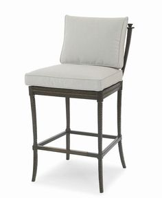 The Century Furniture bar stool from Andalusia Collection has a powder coated aluminum finish.   ITEM#  707UPH