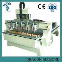 High speed multi head 4 axis cnc machine 3d wood carving machine LZ-1325-6