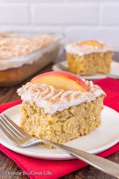 Snickerdoodle Apple Cake - three times the apple goodness makes this fall cake disappear in a hurry. Great doctored up cake mix recipe.