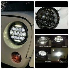 """""""7"""" CREE LEDHEADLIGHTS This item will be availble very soon on our online store. Your thoughts ??  Compatible with: JK, TJ, CJ…"""""""