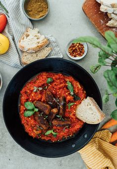 This Pulled Oats® cevapcici recipe was inspired by the Mediterranean cuisine and is served in a spicy tomato sauce. Serve with spicy tomato sauce, fresh bread and herbs. Cevapcici Recipe, Spicy Tomato Sauce, Saute Onions, Fresh Bread, Vegetarian Recipes Easy, Everyday Food, Main Meals, Us Foods, Kitchens
