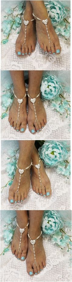 He stole your heart, so show him your love wearing our rhinestone heart wedding barefoot sandals. Lovely foot jewelry for Valentine''s Day weddings and for all you hopeless romantics. All our barefoot sandals are lovingly handcrafted for your dream wedding.