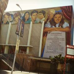 Some cool street art on the side of a high school showing its famous alumni! Portrait of Hollywood, Los Angeles