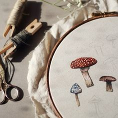 wildsweetling:  A little preview of what I'm working on at the moment :D #embroidery #embroideryhoop #hoopart